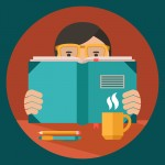 http://www.dreamstime.com/royalty-free-stock-images-man-reading-book-glasses-desk-coffee-cup-pen-pencil-flat-vector-illustration-image43808669