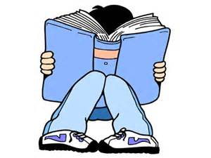 Absorbed in book