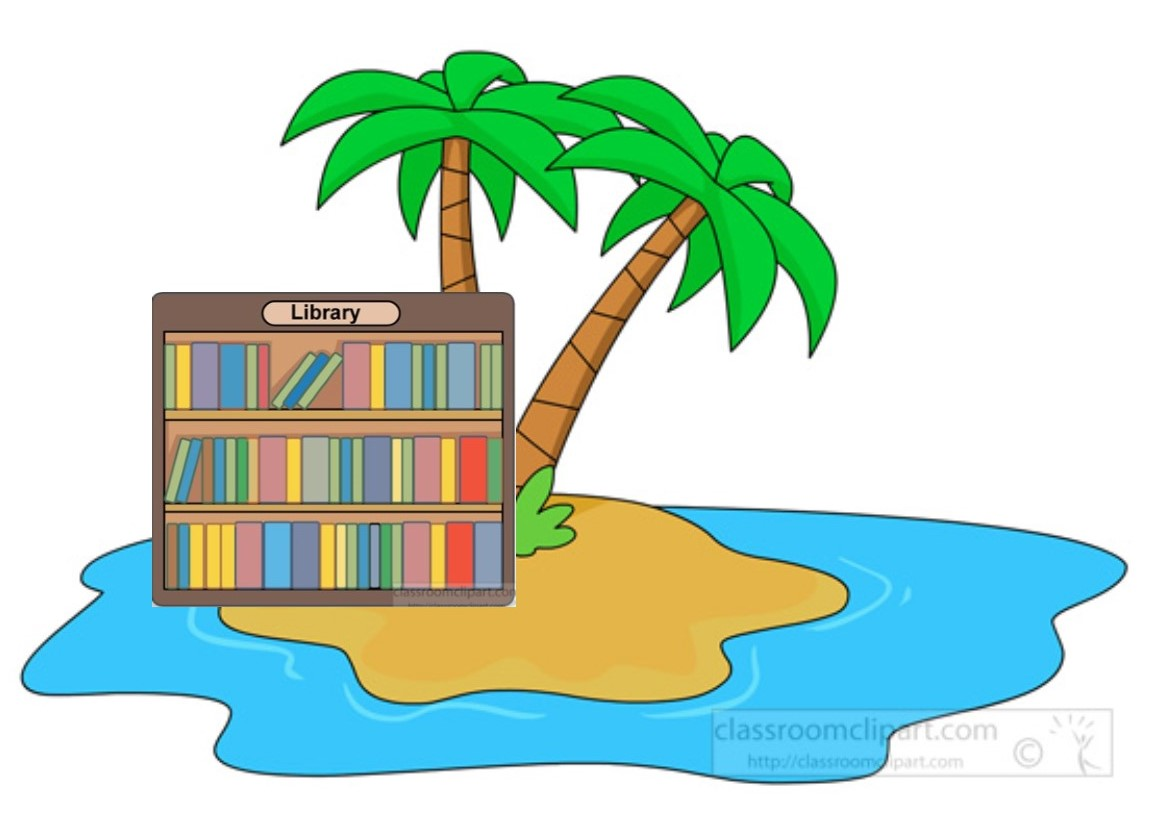 Library on Desert Island